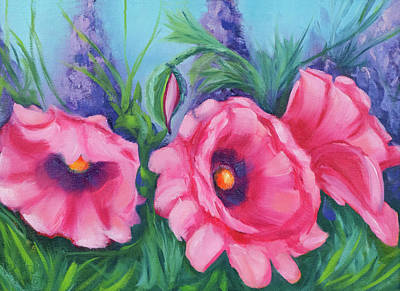 Painting - Pink Poppy Field by Vicki VanDeBerghe