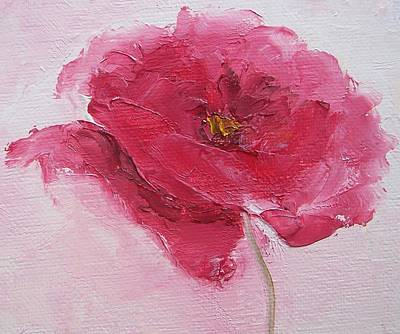 One Single Pink Poppy Flower Painting - Pink Poppy by Jan Matson