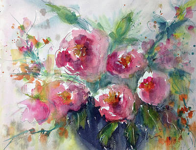 Painting - Pink Pops by Judith Levins
