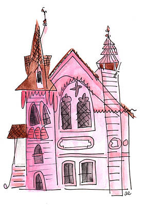 Painting - Pink Presbyterian Church  by Anna Elkins