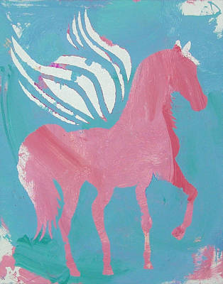 Painting - Pink Princess Pegasus by Candace Shrope