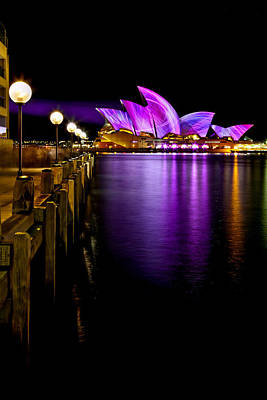 Sydney Photograph - Pink Projections by Az Jackson