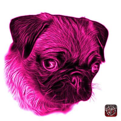Digital Art - Pink Pug -  9567 Fs W by James Ahn