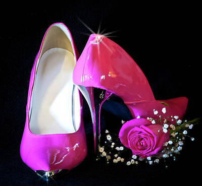 Photograph - Pink Pumps With Pink Rose by Patti Deters