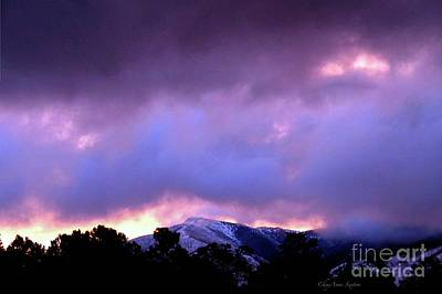 Photograph - Pink Purple Sunrise Over Flag Mtn. by CheyAnne Sexton