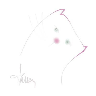 Mixed Media - Pink Pussycat by Larry Talley