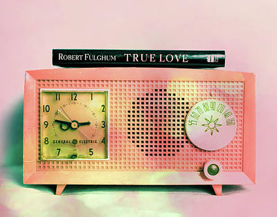 Pink Radio Love Art Print