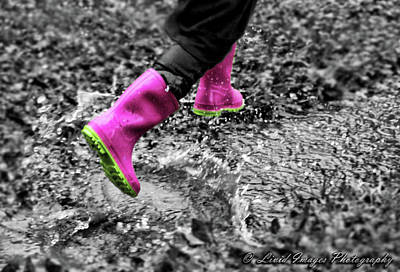 Photograph - Pink Rain Boots by Kristie Bonnewell
