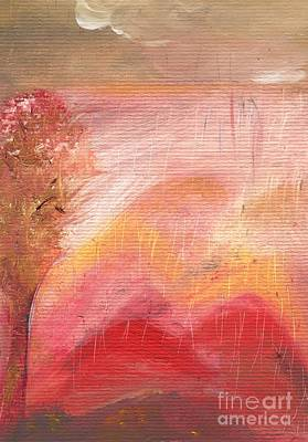 Painting - Pink Rain by Michaela Kraemer