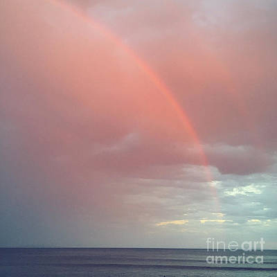 Malibu Photograph - Pink Rainbow by Maureen J Haldeman