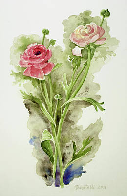 Painting - Pink Ranunculus by Kathryn Donatelli
