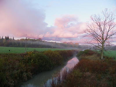 Photograph - Pink Reflection On An October Morning by Peggy King