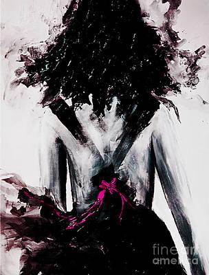 Pink Ribbon Art Print