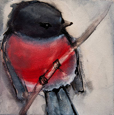 Painting - Pink Robin 2 by Jani Freimann