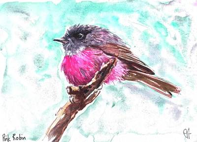 Painting - Pink Robin  by Chris Hobel