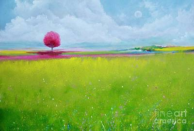 Painting - Pink Roble Far Away by Alicia Maury