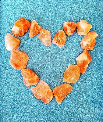 Photograph - Pink Rocks Heart by Rachel Hannah