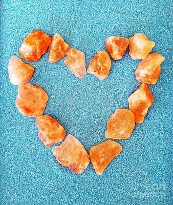 Photograph - Pink Rocks Heart by Rachel Hannah