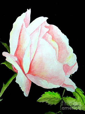 Painting - Pink Rose #2 by Carol Grimes