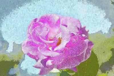 Pink Rose Against Blue Sky IIi Artistic Art Print