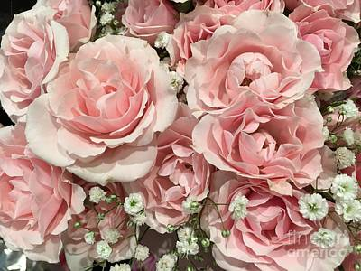 Photograph - Pink Rose Bouquet by Jeannie Rhode