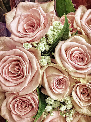 Photograph - Pink Rose Bouquet by Jim And Emily Bush