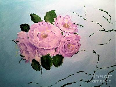 Painting - Pink Rose by Crystal Schaan