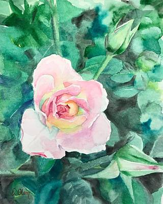 Painting - Pink Rose by Emily Olson