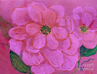 Pink Rose Flowers Art Print