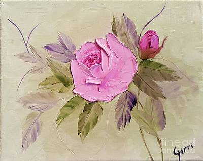 Rose Painting - Pink Rose by Gerri Anderson