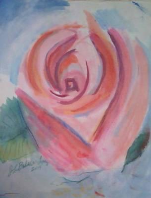 Pink Rose Art Print by Jamey Balester