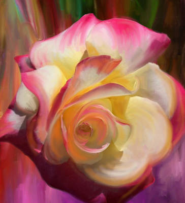 Painting - Pink Rose by Julianne  Ososke
