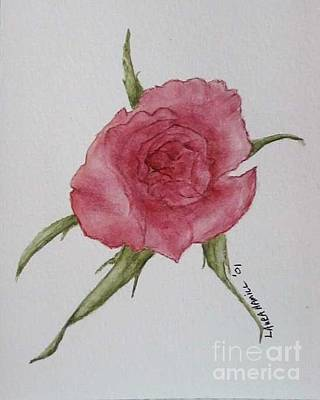 Painting - Pink Rose by Laura Hamill