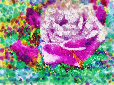 Digital Art - Pink Rose Of Spring by Mario Carini