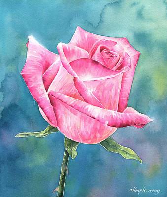 Pink Rose Art Print by Olimpia Wong