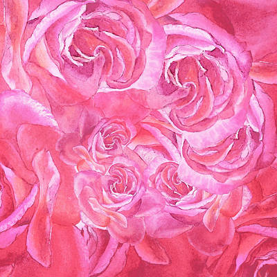 Painting - Pink Rose Petals Abstract by Irina Sztukowski