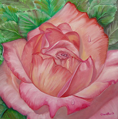 Painting - Pink Rose by Quwatha Valentine