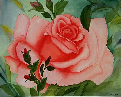 Pink Rose Art Print by Robert Thomaston