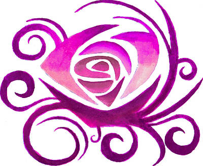 Flower Painting - Pink Rose by Sarah Krafft
