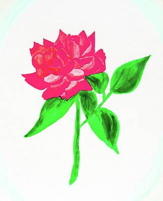 Painting - Pink Rose, Watercolor by Irina Afonskaya