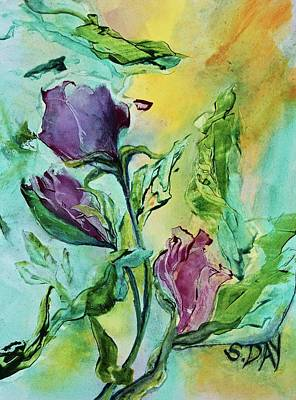 Pink Rosebuds Art Print