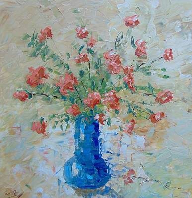 Pink Roses Original by Frederic Payet