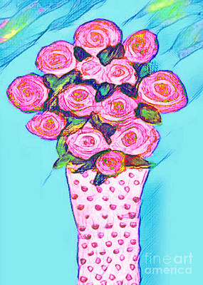 Painting - Pink Roses by Holly Martinson