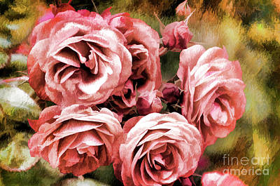 Photograph - Pink Roses  by Jim And Emily Bush