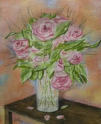 Painting - Pink Roses by Kelly Mills