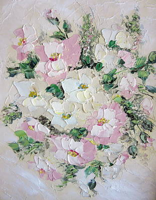 Painting - Pink Roses by Monique Montney