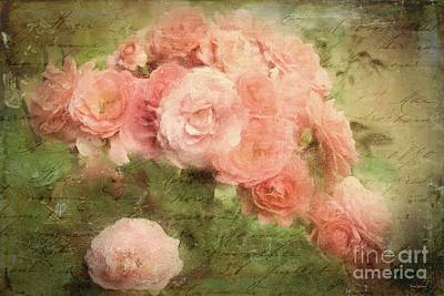 Digital Art - Pink Roses by Tina LeCour