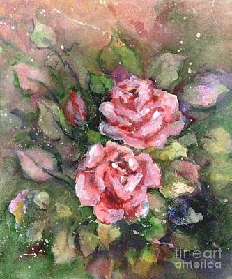 Painting - Pink Roses by Virginia Potter