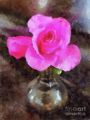 Pink Rozalea Art Print