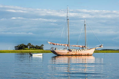 Photograph - Pink Sailboat 2 by Paula Porterfield-Izzo